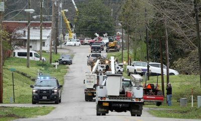 Power company workers sequester in the office during COVID-19 crisis