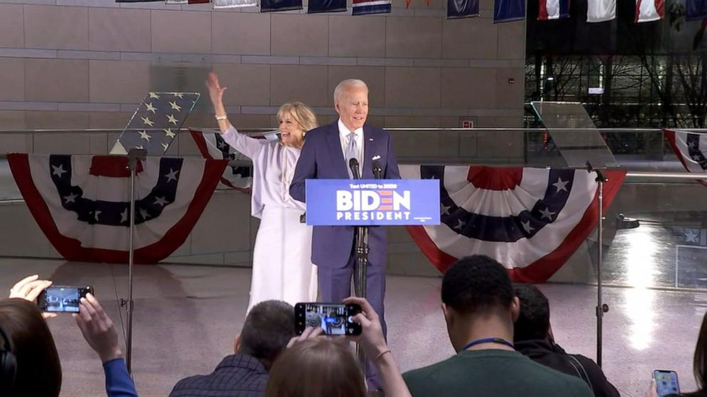 WATCH: Joe Biden wins big on 'mini Tuesday'