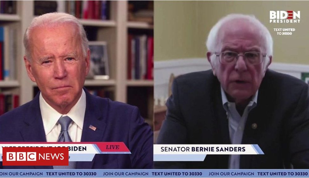 Bernie Sanders endorses Joe Biden for US president