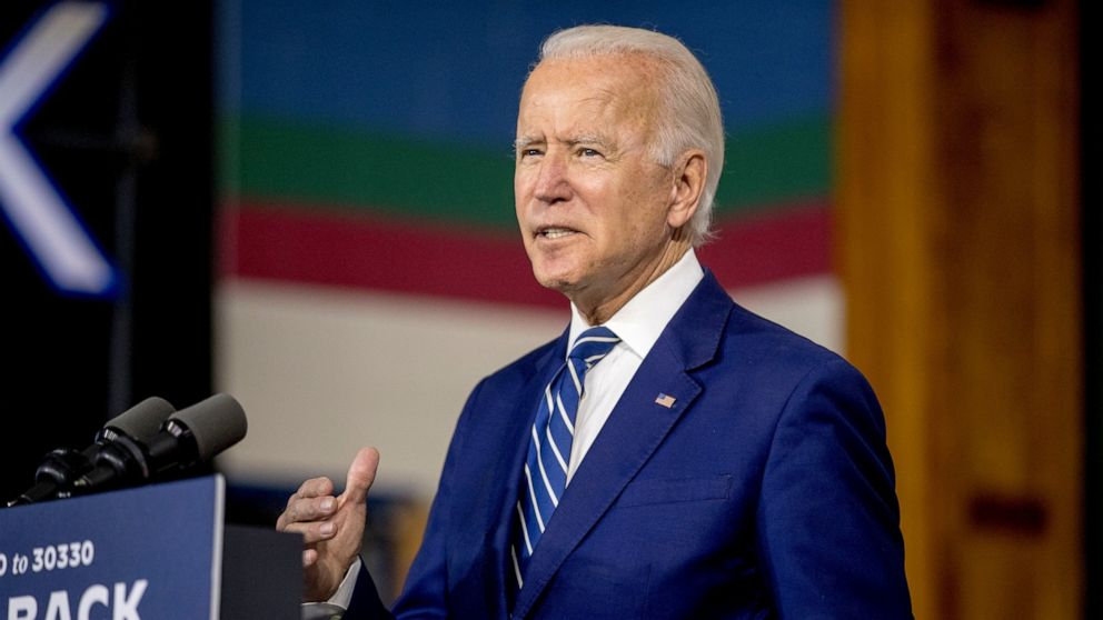 Biden Biden says post-pandemic economy can fight racial inequality