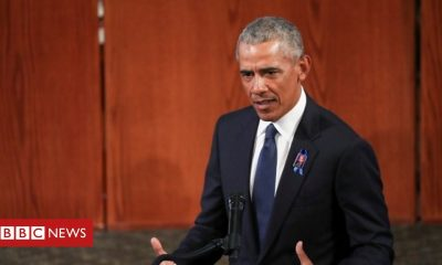 Bernie Sanders Obama eulogy makes thinly veiled digs at Trump