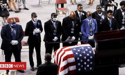 Bernie Sanders John Lewis: Mourners pay tributes to US civil rights icon